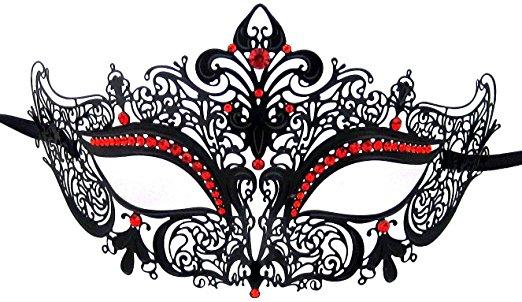 Luxury Mask Women's Laser Cut Metal Venetian Masquerade Crown Mask