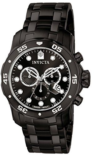 Invicta 0076 Pro Diver Collection Chronograph Stainless Steel Watch