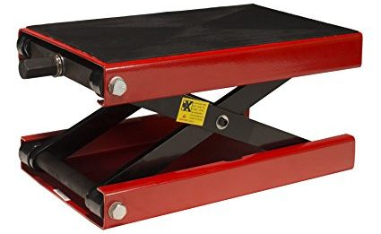 Dragway Tools 1100 LB Wide Deck Motorcycle Center Scissor Jack