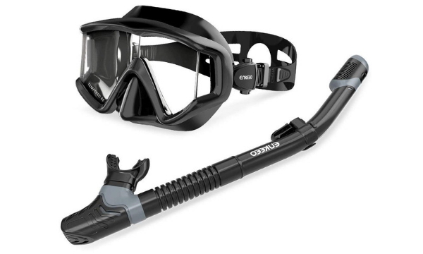 ENKEEO Snorkel Set with Diving Mask