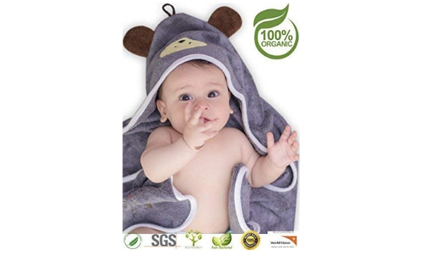 Premium Hooded Baby Bath Wrap