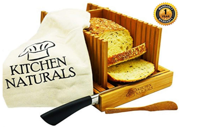 Kitchen Naturals Premium Bamboo Bread Slicer